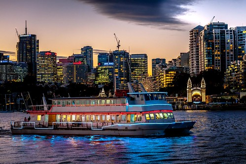 Sydney Circular Quay Area Sunset-52
