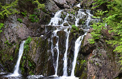 Joseph Howe Falls (TheNovaScotian1991) Tags: trees canada water pool waterfall moss victoriapark rocks novascotia cliffs geology faultline nikond3200 colchestercounty afsdxzoomnikkor55200mmf456ged josephhowefalls afsdxnikkor55200mmf456gedvrii