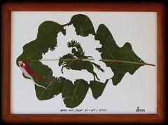 B-111. 2016 (lisc.leaf) Tags: horse leaves leaf oak konie li lisc licie db leafcutting leafart husarz liscie husaria
