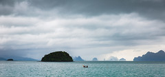 Fishin (Zach Dischner) Tags: adventure beach boat jamesbond ocean rocks sea thailand tour tourism blue clouds ominous silhouette cool