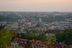 Overview of Old Town in Lviv (tarmo888) Tags: sundown lviv ukraine medieval unesco lvov  lww lemberg lysahora  loojang lwow sunsetporn leopolis ukrayina photoimage  sooc sonyalpha  autohdr sony geosetter  beenwaiting   geotaggedphoto nex7 sel18200 foto year2016