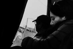 (. . .) Tags: chile street people white black bus blanco y negro gray quilpue