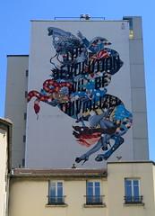 Mural by Tristan Eaton in Paris 13th (Sokleine) Tags: street urban streetart paris france mural snake urbanart cavalier serpent rue iledefrance fresco fresque napolon artderue murpeint tomjerry 75013