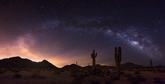 Ascension (T. Morris) Tags: arizona cactus cacti desert panoramic astrophotography remote saguaro milkyway maricopacounty sonorandesertnationalmonument nikond810 northmaricopamountains