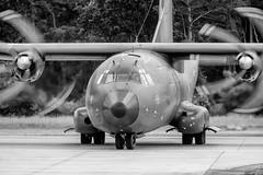 Manching - Germany (Nobsta) Tags: bavaria bayern germany deutschland fuji xt1 fujinon nik silverefex ingolstadt manching airbus defense military eads transall flugzeug