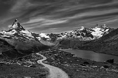 Matterhorn, Stellisee, Switzerland (Patrick Casutt) Tags: matterhorn stellisee zermatt blauherd switzerland bw landscape beauty nikon best view