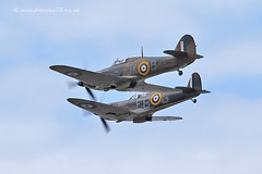9934 BBMF (photozone72) Tags: canon aviation hurricane spitfire raf cleethorpes airshows armedforcesday bbmf p7350 lf363 canon100400mmf4556l rafbbmf 7dmk2 canon7dmk2