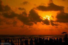 Sunset in the beach1 (IamMinhaj) Tags: sea sky beach water landscape sand tour outdoor bangladesh bayofbengal coxsbazar longestbeach