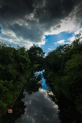 sky reflection (Ntino Photography) Tags: uk trees reflection water river woking outdoor bluesky cloudysky sigma1020mm basingstokecanal canon600d