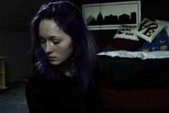 me (julitadotk) Tags: shadow portrait people woman girl hair person photography model purple autoportrait grunge violet poland human polishgirl