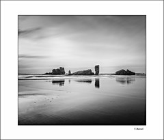 Serenity (tmuriel67) Tags: spain asturias playa blancoynegro blackwhite beach monochrome mar seascape playadebayas nubes ndfilters nature outdoors nikon haida tokina flickr paisaje conceptual serenidad waterscapes rocks rocas reflejos reflections