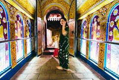 passage into temple of the tooth ('Barnaby') Tags: passageway templeofthetooth barnabyrobson budhist wwwbarnabyrobsonorg buddhism prayer kandy temple srilanka
