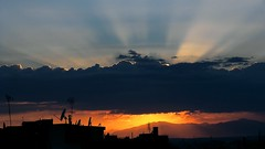 Greece-Thessaloniki (Dimitris Georgitzikis) Tags: sunset sky clouds thessaloniki sunsetlight cityskyline