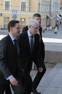 European Council President Van Rompuy in Finland.
