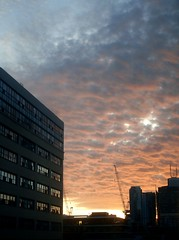 Rippled Morning (Georgie_grrl) Tags: morning sky toronto ontario beautiful clouds sunrise lovely cans2s mydarkpinkside samsungd760