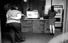 Skinny Soy Latte please (sinisa ostojic) Tags: street leica light people blackandwhite bw white selfportrait black film coffee analog 35mm blackwhite women fuji availablelight streetphotography brisbane lunchtime d76 summicron lensflare espresso analogue juxtaposition m2 cookingschool coffeebreak itchy contemplation acros selfie twowomen scratchingback sinisaostojic skinnysoylatte