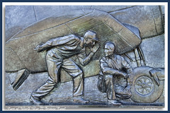 WW II (walla2chick) Tags: usa wheel bronze plane memorial panel wwii worker pilot washdc bronzepanel topazadjust 4164ta