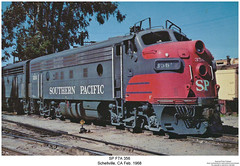 SP F7A 356 (Robert W. Thomson) Tags: california railroad train diesel railway trains sp locomotive trainengine coveredwagon southernpacific f7 espee emd funit f7a aunit fouraxle schellville cabunit