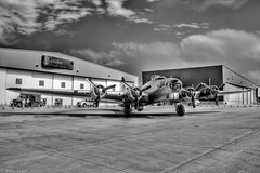 IMG_0094 hdr BW-Edit.jpg (waite767) Tags: bw airplane colorado aviation wwii airplanes places historic b17 transportation bomber hdr warbird aluminumovercast 2011 centennialairport dateyear