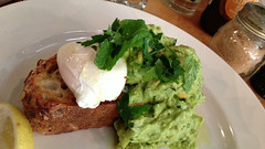 Smashed avocado and poached egg on multigrain toast at Axil Coffee in Hawthorn (ultrakml) Tags: cameraphone food breakfast bread avocado toast egg australia melbourne victoria hawthorn iphone poached iphone5 axilcoffee