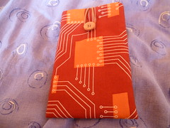 Orange case for my Peak (GeekShadow) Tags: orange design phone board case smartphone cotton organic etsy circuit