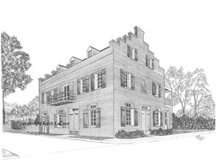Old Schmit Hotel - Steamboat House / Washington, LA (Artist KL) Tags: oldbuildings historicalbuilding pencildrawing historicalhouse washingtonla architecturaldrawing keithlacour schmithotelwashingtonlouisiana