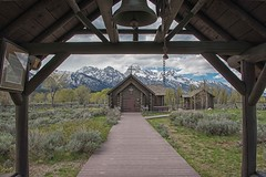 Going to the Chapel (dbushue) Tags: mountains church nature landscape nikon bell entrance chapel moose snowcapped wyoming peaks grandtetonnationalpark chapelofthetransfiguration coth gtnp supershot 2013 damniwishidtakenthat coth5 sunrays5