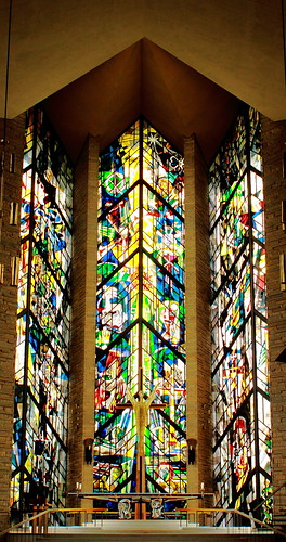 Stained Glass Window at Front of Chapel, Valparaiso University - Valparaiso, Indiana