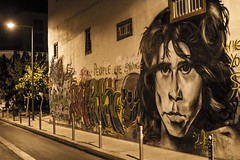 When you're a stranger (Ben O'Bro) Tags: street art wall canon painting doors tag 14 cyprus jim 7d morrison limassol 30mm chypre
