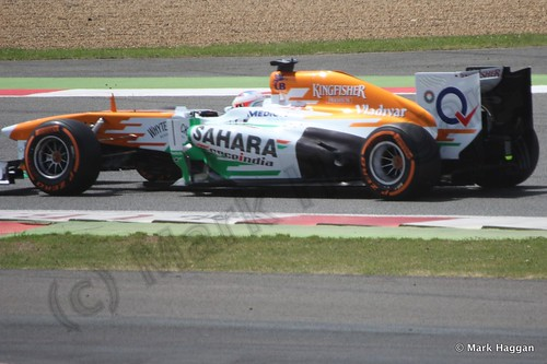 Paul Di Resta in the 2013 British Grand Prix