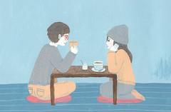 face to face (kazumiosawa) Tags: people illustration painting illustrator