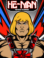 He-Man (Hiperactivo) Tags: muscles illustration toys jaw cartoon 80s hero blonde warrior powerful vector heman