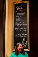 ET & the Menu (Culinary Fool) Tags: seattle beer menu lunch downtown august mexican blackboard rickbayless culinaryfool tomdouglas 2470mm28 2013 palaceballroom erictanaka negromodelo brendajpederson