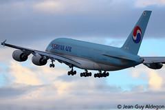 Airbus A380-861 F-WWAB 0128 HL7622 Korean Air Lines (Jean-Guy Aldegon - AroSpot66) Tags: air korean airbus a380 blagnac avion 380 128 atterrissage aroport aro fwwab hl7622