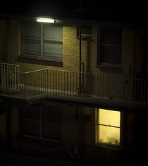 Darkness in suburbia (Intrinsic-Image) Tags: light stilllife brick window night stairs contrast dark photography prime photo still exposure darkness image photos pics sleep perspective australian suburbia picture australia melbourne pic victoria domestic nighttime photograph dandenong walkway shade utata suburb f18 omd darius 75mm m43 primelens em5 melanchony omzuiko microfourthirds melbournscape intrinsicimage