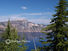 Crater Lake National Park (61) (moelynphotos) Tags: blue trees lake mountains reflection nature oregon volcano scenery caldera craterlake nationalparks craterlakenationalpark volcanicbasin moelynphotos coth5