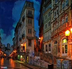 Coimbra ao anoitecer at dusk al anochecer (jesuscm) Tags: street city light sky portugal buildings luces calle edificios nikon paint ciudad cielo coimbra creativemindsphotography jesuscm jesuscmsfavoritesgallery