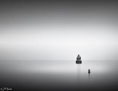 At The Deepest Shade It's All Colored The Same (JP Benante) Tags: longexposure bw lighthouse mist water monochrome rain weather fog maryland minimal buoy chesapeakebay sep2 cs6 sandypointstatepark 24105l leefilter lr5 5dii bigstopper jpbenante pushinagainstastone