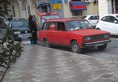 Lada Riva Estate (occama) Tags: street old red car estate riva working malta retro 1980 lada seller trader vision:sunset=0631 vision:outdoor=0934 vision:car=0683