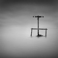 LOST. (Neil Hulme.) Tags: longexposure blackandwhite white motion black water monochrome square lumix mono fineart fine minimalist ndfilter daytimelongexposure nd110filter blackandwhitelongexposure vision:mountain=0621 vision:sky=099 vision:clouds=0922