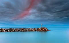 O'sullivan beach sunrise (James Yu Photography) Tags: longexposure light sea cloud sunrise ramp seascapes 5 years another redcloud  osullivanbeach