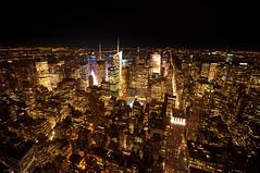 MANHATTAN (sebarayap) Tags: city nyc newyorkcity usa newyork night nikon state manhattan timessquare empire empirestatebuilding empirestate newyorkatnight eeuu