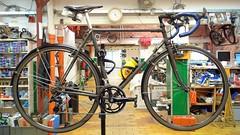 Henry's Winter Road Bike 2014 6 (@WorkCycles) Tags: road bike grey steel rusty racing carmina henry fender groningen ta fiets roest grijs philwood cantilever arione mudguard downtube shifters racefiets grijze workcycles