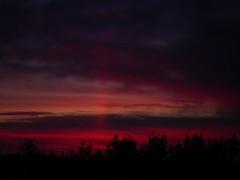 IMGP8397 Sunrise with red pillar (shutterbroke) Tags: red sunrise pentax pillar optio ws80 shutterbroke