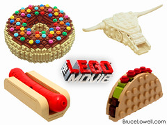Bruce in The LEGO Movie (bruceywan) Tags: dog hot movie skull cow lego announcement taco donut cowskull moc legomovie brucelowellcom thelegomovie