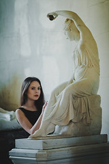 Marmoreal (Gerda Ros) Tags: sculpture woman art girl beautiful beauty museum youth canon hair dress young grace lovely hermitage statuary imagery sculpt heartbreaking marmoreal gerdaros