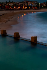 Coogee Beach in the evening (claudia@flickr) Tags: longexposure water waves meetup australia nsw coogee rockpool photofunmeetup