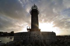 Lighthouse (Salvador Moreira) Tags: sunset lighthouse backlight del contraluz faro atardecer mar nikon angle wide tokina galicia gran museo angular vigo d90 1116 alcabre atx116