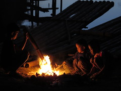 children of the world (explore) (DOLCEVITALUX) Tags: children fire bonfire darn canonpowershotsx50hs