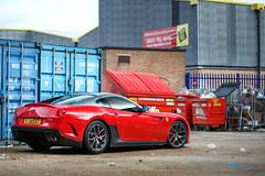 Halfords. (Alex Penfold) Tags: new red london cars alex car super ferrari eat gto autos supercar supercars malden f40 2014 599 halfords penfodl vision:text=0574 vision:outdoor=0846 vision:car=0834